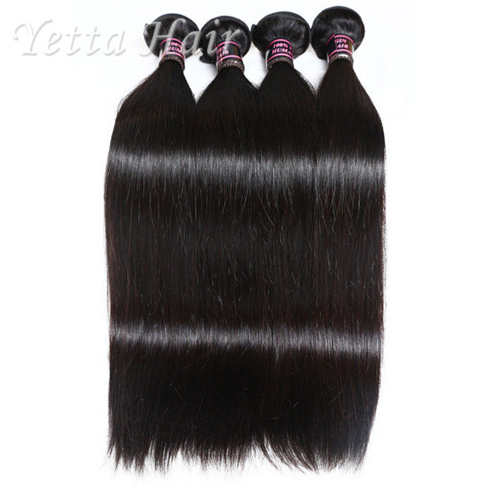 Lustrous Silky Straight  Indian Remy Weave Human Hair for Black Women